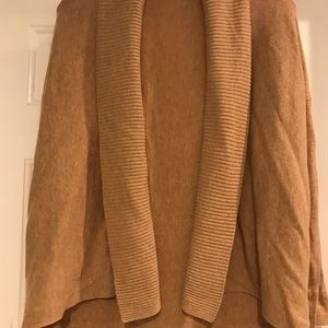 Camel colored cardigan.
